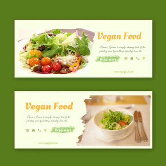 Banners de comida vegan