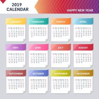 Gradient calendar