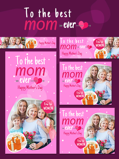Mother's day web banner