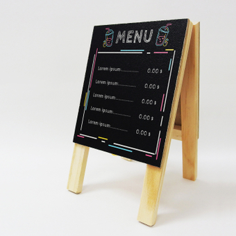 Mock-up menu signboard