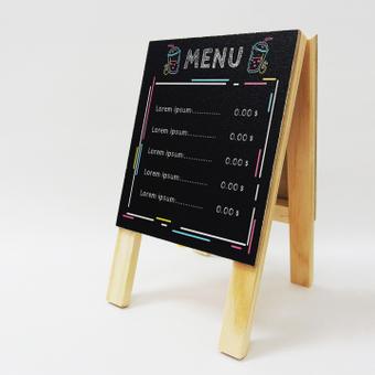 模擬菜單招牌