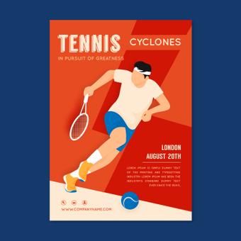 Poster di tennis