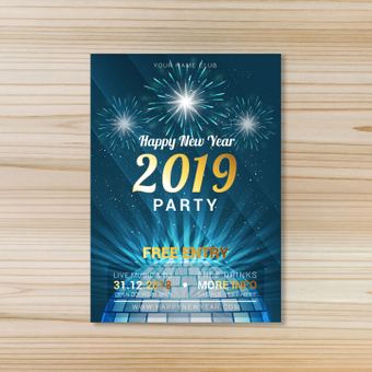 Poster · Happy New Year party