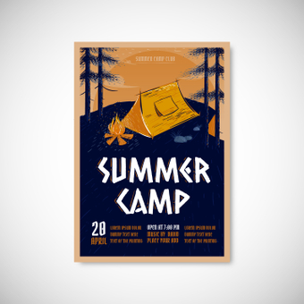 Poster summer camp