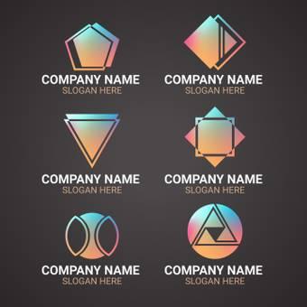 회사 로고 메탈릭