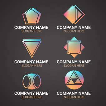 Company logo metallic