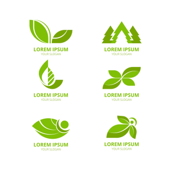 Green logo set