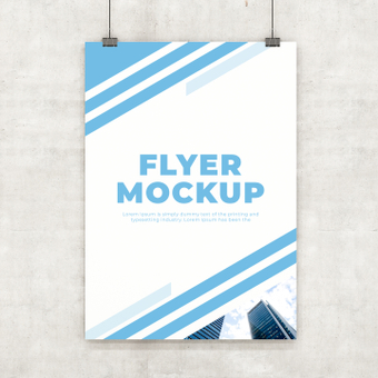 Mockup flyer