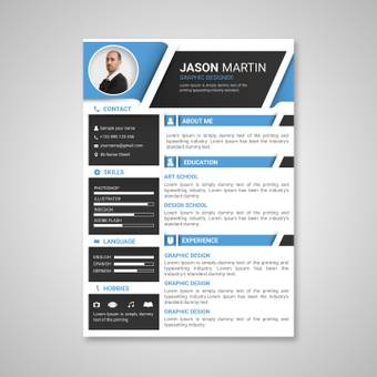 Light blue color resume