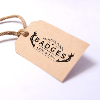 Mock-up · paper tag