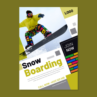 單板滑雪海報