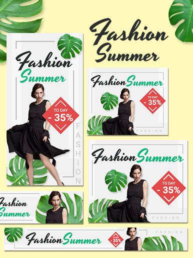 Summer fashion web banner