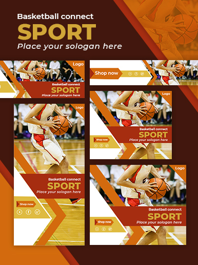 Basketball web banner