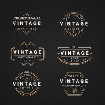 Vintage logo black