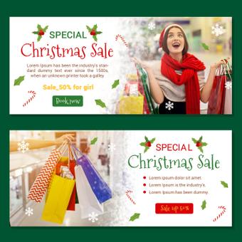 聖誕銷售橫幅