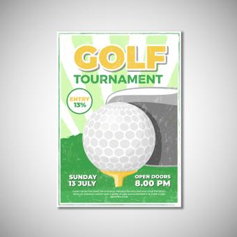 海报高尔夫比赛