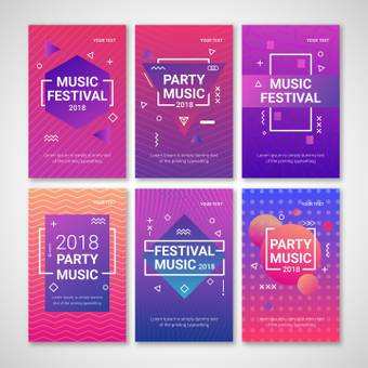 Music festival card