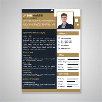 Ocher color resume