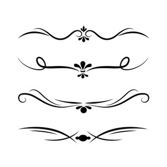 Decorative line brush set
