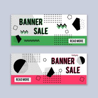 Abstract graphic banner