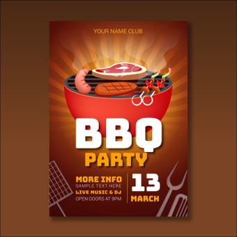 Poster · Barbecue party