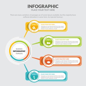 Infografía colorida