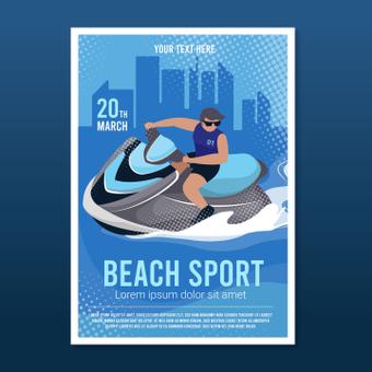 Strandsportplakat
