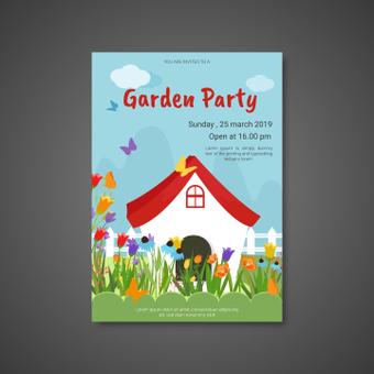 Poster garden party