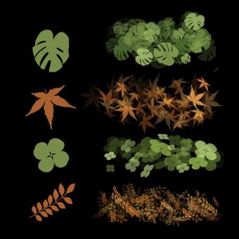 Набор кистей для листьев