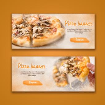 Banner de pizza