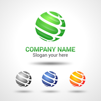 Spherical logo design