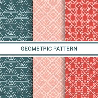 Set di motivi geometrici
