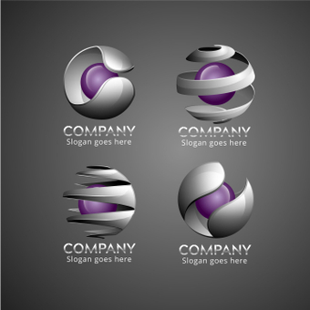Spherical logo set