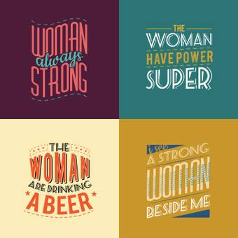 WOMAN 4 different logos