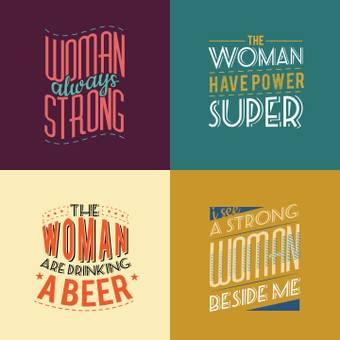 女人4個不同的標誌