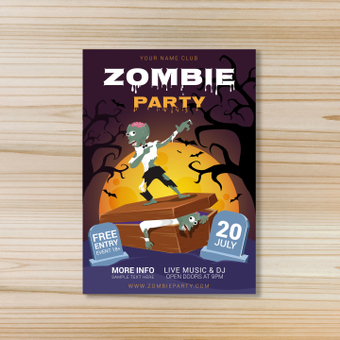 Poster · Zombie Party
