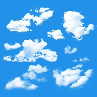 Set di pennelli nuvola