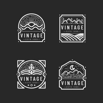 Marca do logotipo vintage