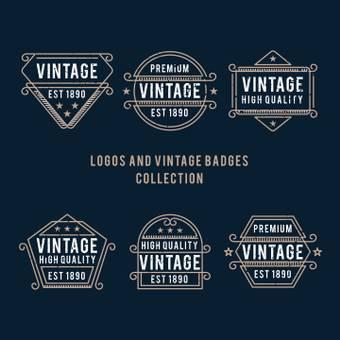 Vintage Logo Navy