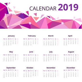 Geometric pattern calendar