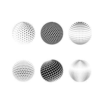 Circular dot brush