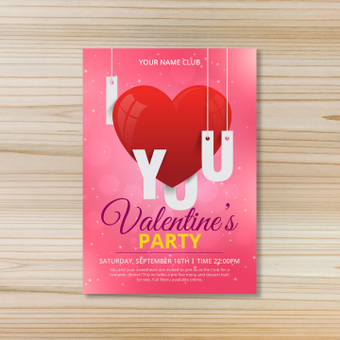 Poster · Valentine's party