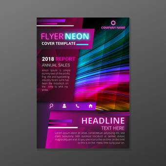 Neon color flyer