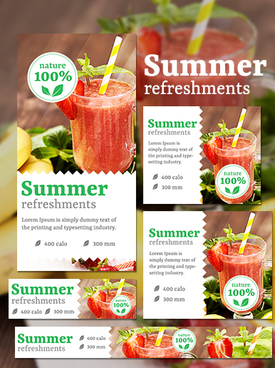 Refreshment web banner