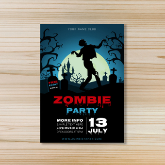 Poster / Zombie Party