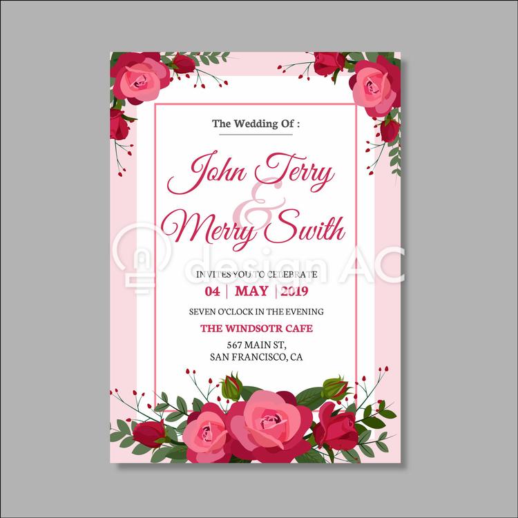 結婚式招待状5月 免费模板材料 模板 Designac