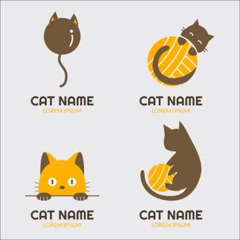 Cat logo mark