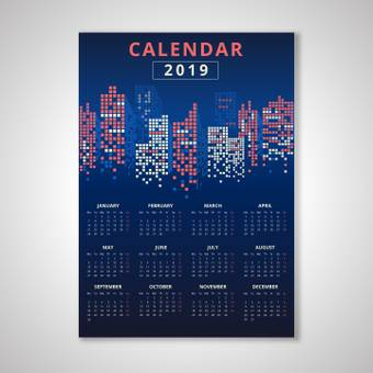 Night scene calendar