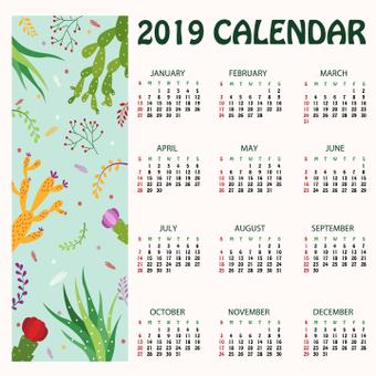 仙人掌日曆