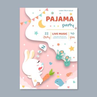 Pajamas party poster